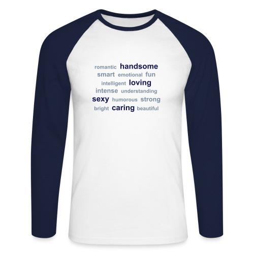 Opptatt - Langermet baseball-skjorte for menn