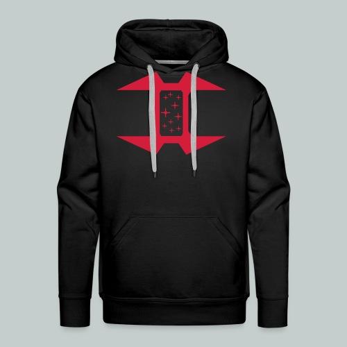 Zipless hoodie, Logo on front, URL on back - Men's Premium Hoodie