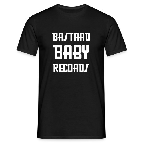 Bastard Baby Records Tee (Black) - Men's T-Shirt