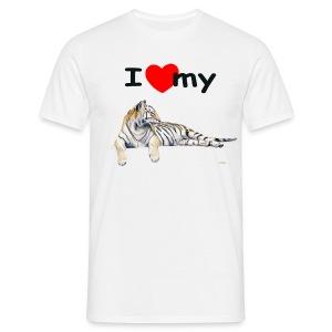 I Love my Tiger Comfort T - Men's T-Shirt