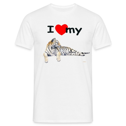 I Love my Tiger Comfort T - Men's T-Shirt