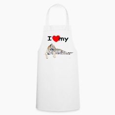 White i_love_my_siberian_tiger_for_light  Aprons