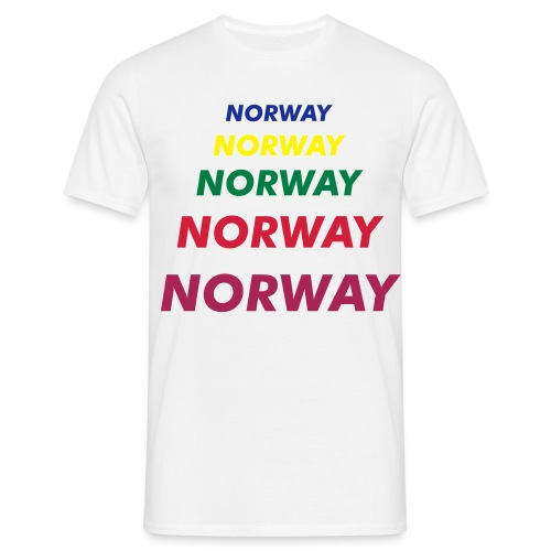 Norway - T-skjorte for menn