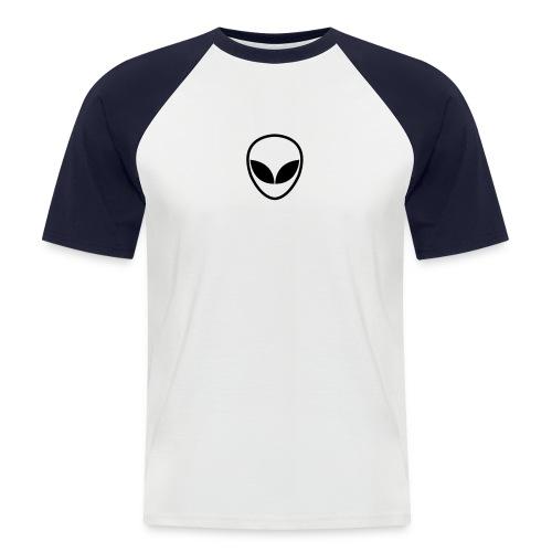 Alien (white/navy) - Männer Baseball-T-Shirt