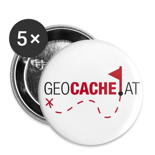 geocache.at Buttons - Buttons groß 56 mm (5er Pack)