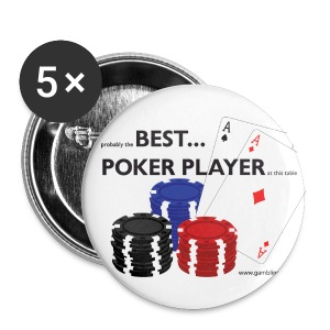 Best Poker Player Badge - Buttons large 56 mm