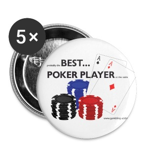 Best Poker Player Badge - Buttons medium 32 mm
