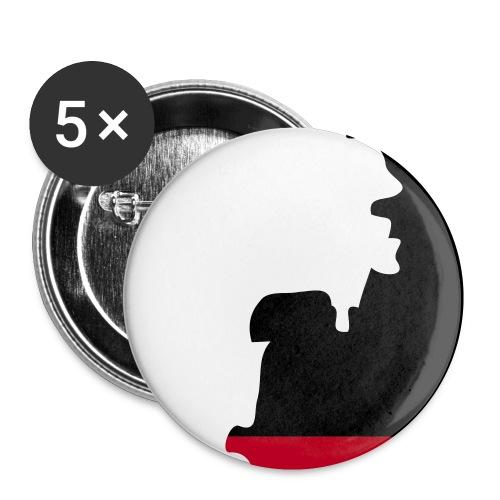 Ansteckbutton - Buttons klein 25 mm (5er Pack)