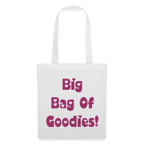Red Glitter Text Tote Bag - Tote Bag