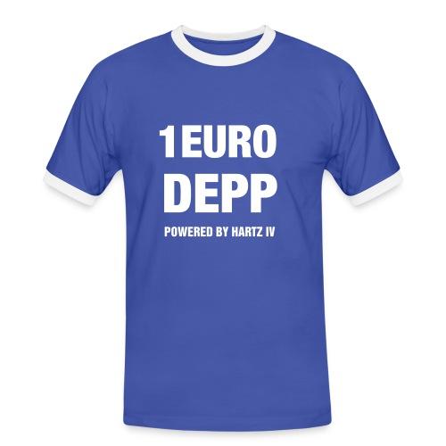1 Euro Depp (blau) - Männer Kontrast-T-Shirt