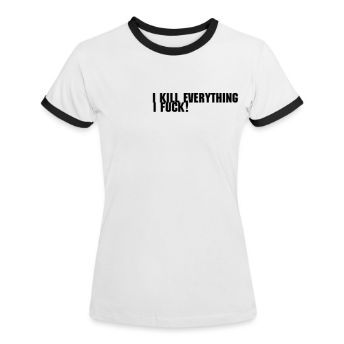 Bad Girl T-shirt! - Kontrast-T-shirt dam