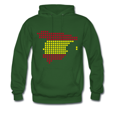 Green Spain flag pixel map Men's Longsleeves
