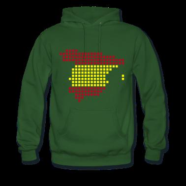 Green Spain flag pixel map Men's Longsleeves