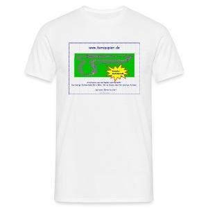 Karopapier - das halbe Fanshirt - Männer T-Shirt