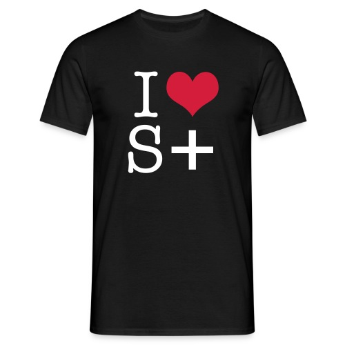 Sort t-shirt (I love S+) - Herre-T-shirt