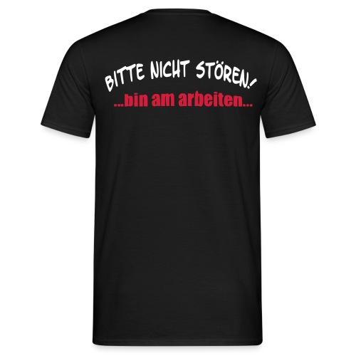 Nicht Stören - Aufdruck hinten - Männer T-Shirt