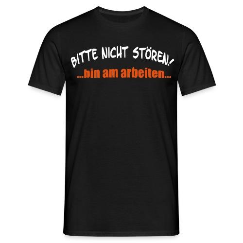 Nicht Stören - Aufdruck vorne - Männer T-Shirt
