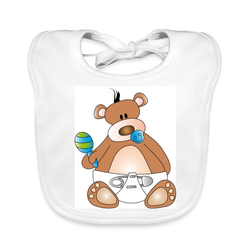 Teddy babypojke - Ekologisk babyhaklapp