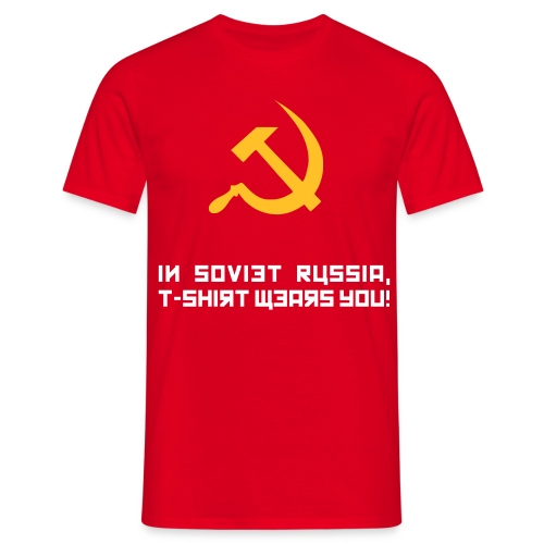 Soviet Russia Mens Red - Men's T-Shirt
