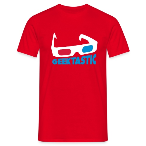 Geektastic Mens Red - Men's T-Shirt