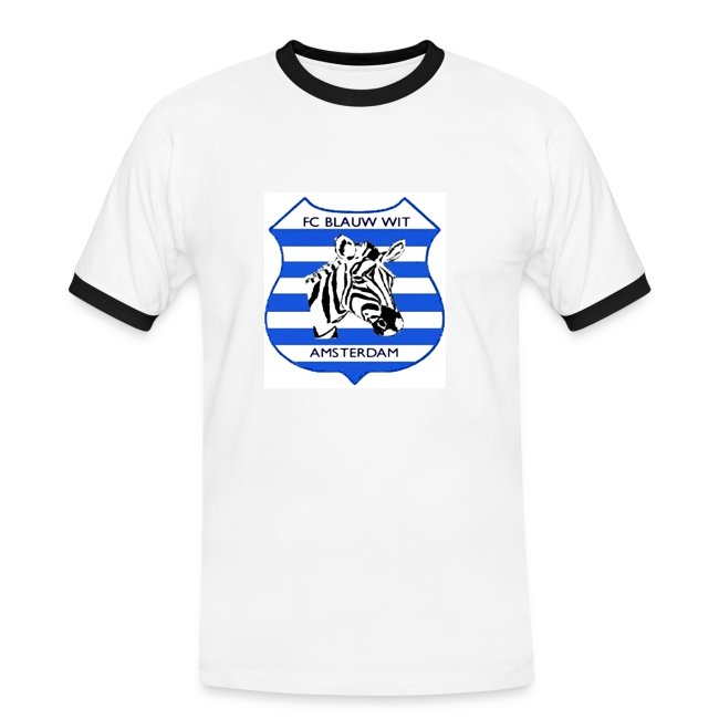 T-shirt Blauw-Wit