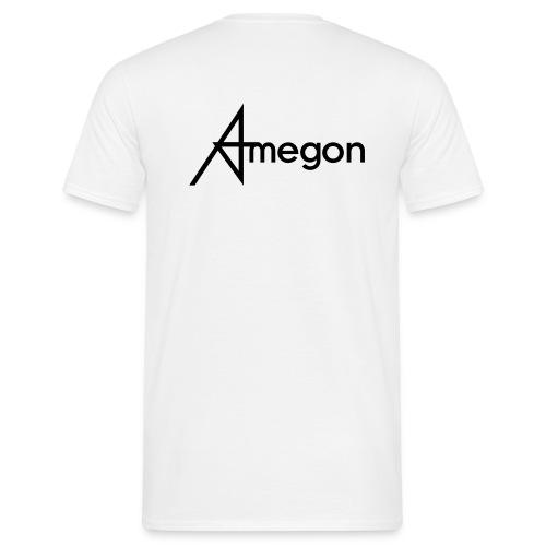Männer T-Shirt - Vorne: Amegon Logo klein;  Hinten; Amegon Logo groß
