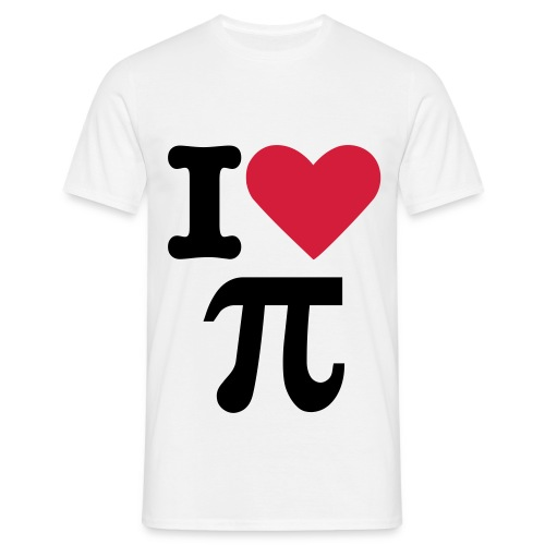 I Love Pie Mens White - Men's T-Shirt