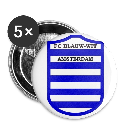 Botton 'FC Blauw-Wit Amsterdam - Buttons groot 56 mm (5-pack)