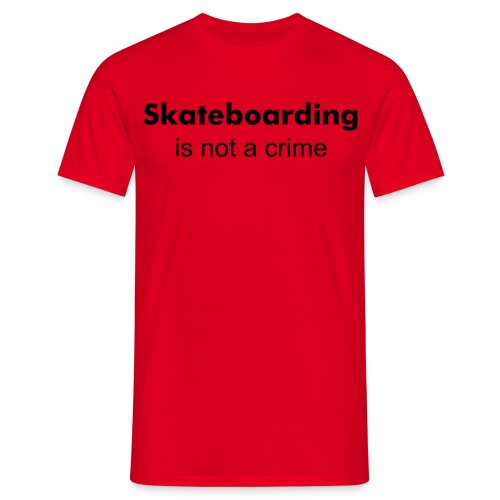 Skateboarding is not a crime - T-skjorte for menn