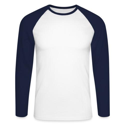 Male Baby Rib Raglan white/black - Männer Baseballshirt langarm
