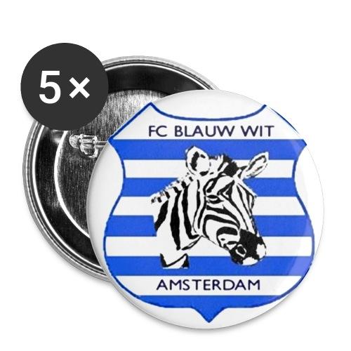 Button Vrienden van FC Blauw-Wit Amsterdam - Buttons klein 25 mm (5-pack)