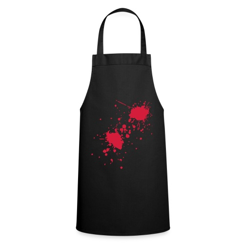 Blood splatter apron - Black/Red - Cooking Apron