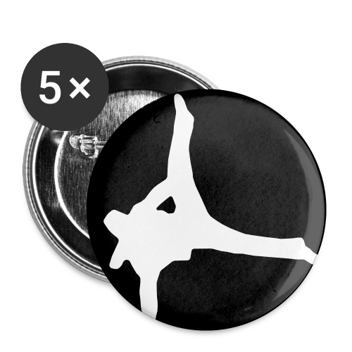 5 x breakdancer 25mm - Buttons klein 25 mm (5er Pack)