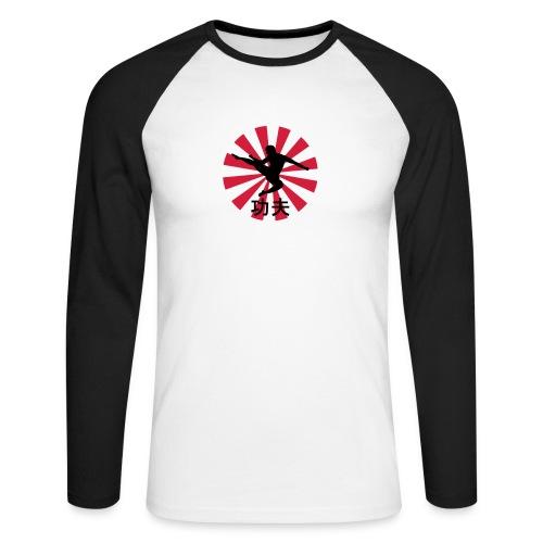 Promodoro Raglan Longsleeve 'Kung Fu' - Men's Long Sleeve Baseball T-Shirt