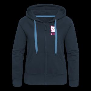 Pixelkitten. - Women's Premium Hooded Jacket
