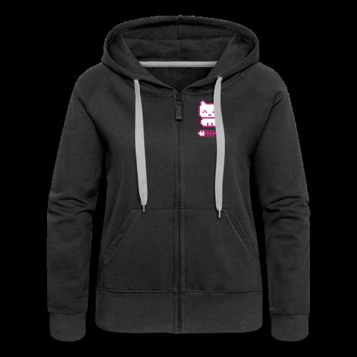 Pixelkitten - Women's Premium Hooded Jacket
