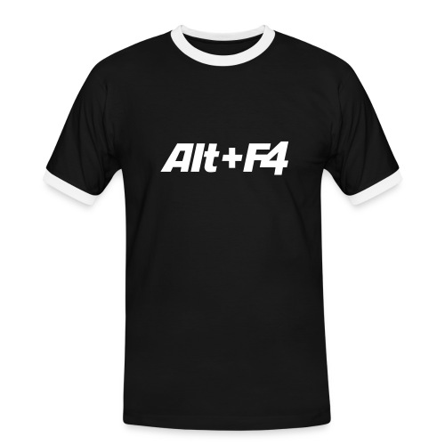 ALT + F4 - Männer Kontrast-T-Shirt