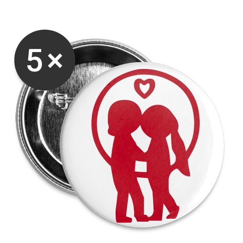 Buttons mittel 32 mm (5er Pack) - wien.intim,wien,motive,intim,buttons