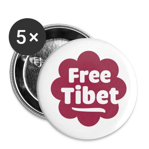 Free-Tibet - Buttons groß 56 mm (5er Pack)