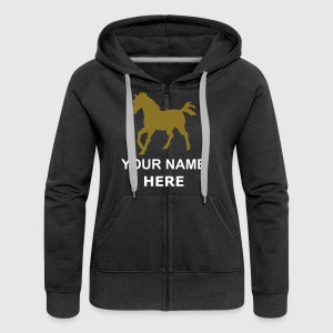 Svart horses for the people Kvinner Langermet - Women's Premium Hooded Jacket