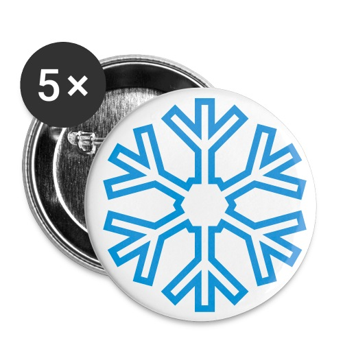 Snowflake BADGES - Buttons small 25 mm