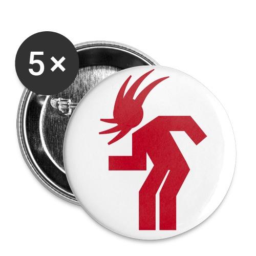 Warning: Headbanging - Buttons small 25 mm