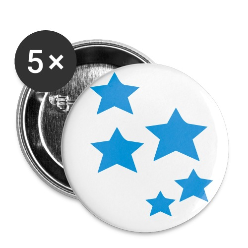Blue Stars BADGES - Buttons small 25 mm
