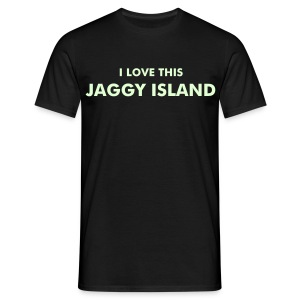 I Love This Jaggy Island - Men's T-Shirt