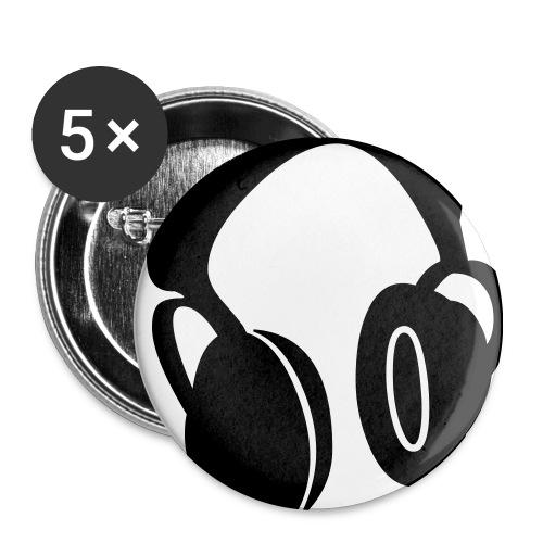 5 spille con cuffie - Spilla media 32 mm