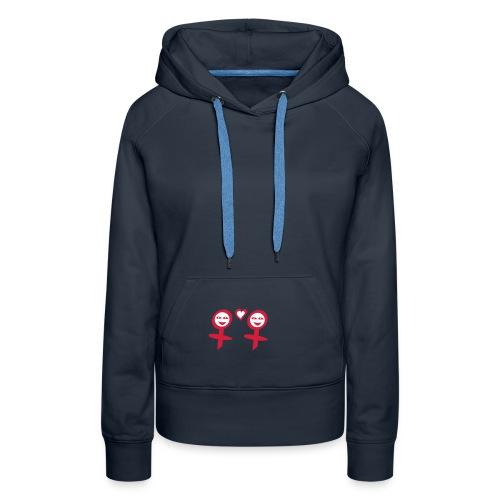lesbian symbol hoodie - Women's Premium Hoodie