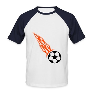Flaming Ball (Mens) - Männer Baseball-T-Shirt