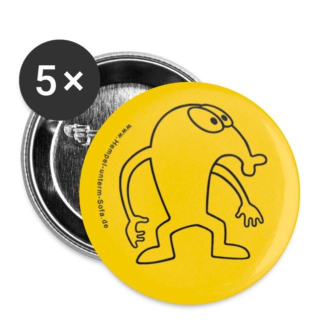 "Hempel Pin ""Outline"" yellow, Anstecknadel, Button"