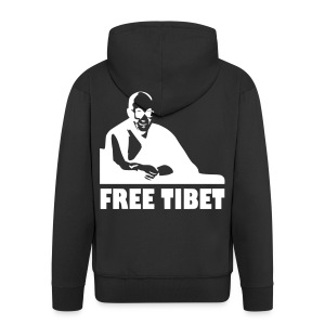 Free Tibet hoodie - Men's Premium Hooded Jacket