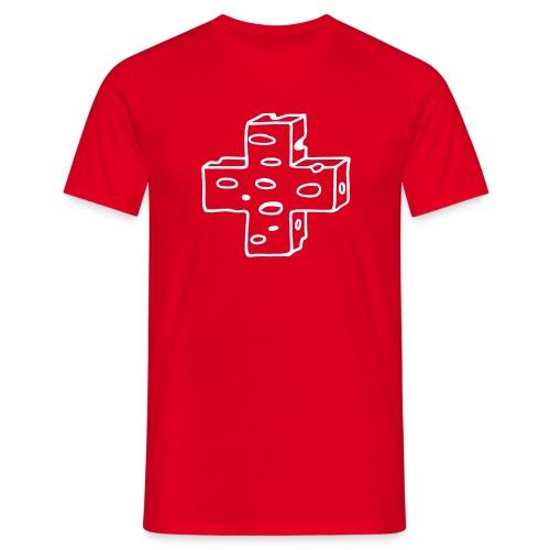 Käse Schweizer Kreuz - Männer T-Shirt